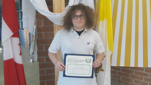 """Our Lady of the Lake CCS Student Wins Award at """"Ask a Laureate"""" Event"""